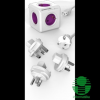 Allocacoc PowerCube ReWirable 5-öss lila/fehér hálózati elosztó 3 cserélhető dugóval + tápkábel (1801/DERW3P)