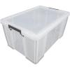 ALLSTORE Műanyag tárolódoboz, átlátszó, 70 liter,