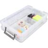 ALLSTORE Műanyag tárolódoboz, átlátszó, rendező tálcával, 5,5 liter,