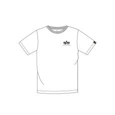 Alpha Indsutries Basic T Small Logo - fehér