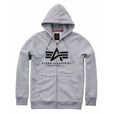 Alpha Indsutries Basic Zip Hoody - szürke