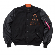 Alpha Industries COLLEGE JACKET - fekete férfi kabát, dzseki