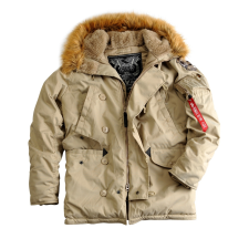 Alpha Industries Explorer női valódi szőrmével - khaki színű kabát női dzseki, kabát