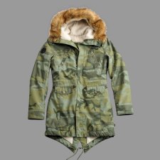Alpha Industries Hooded Fishtail III női - olive camo női dzseki, kabát