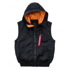 Alpha Industries Hooded MA-1 Vest - fekete