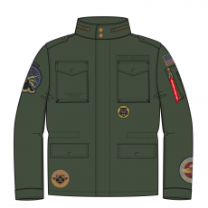 Alpha Industries HUNTINGTON PATCH - dark olive