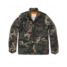 Alpha Industries M-65 Heritage - woodcamo