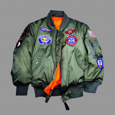 Alpha Industries MA-1 Patch Youth - sage zöld