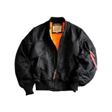 Alpha Industries MA-1 VF 59  Long - fekete férfi kabát, dzseki