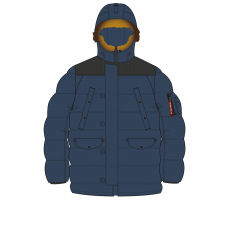 Alpha Industries N3-B Puffer - replica blue