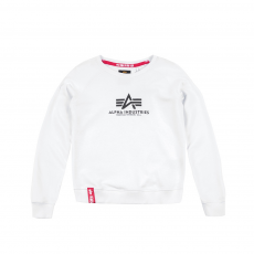 Alpha Industries New Basic Sweater fehér kereknyakú pulóver