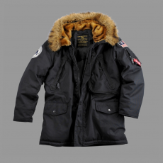 Alpha Industries Polar Jacket Kids - fekete