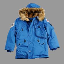 Alpha Industries Polar Jacket Kids - royal kék gyerek kabát, dzseki