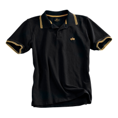 Alpha Industries Twin Stripe Polo - fekete/sárga