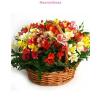 Alsztroméria virágkosár