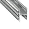 Alu profil eloxált (Dopio, ezüst) - opál PMMA
