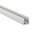Alu profil eloxált (Type-Y) LED szalaghoz, opál bura, PVC