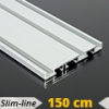 Alumínium függönysín (alu. szín) - 3 sor - 150 cm