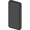 AlzaPower Carbon 20000mAh gyors töltés + PD3.0 fekete