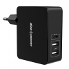AlzaPower T3C Triple Charger 5.4A fekete