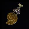 Ammonitesz medál ametiszttel