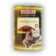 Amora Fleisch pur Katze 400g Szárnyas & Sajt macskaeledel