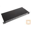 """AMP 19"""" SC optikai panel, üres, 12db duplex toldóhoz, (220mm) fekete (1206505-8)"""