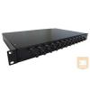 """AMP 19"""" ST optikai panel, 24db MM toldóval (300mm fiókos) fekete (4-1206114-4)"""