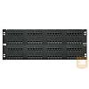 AMP Cat.5E UTP 96 portos patchpanel, 4U, fekete (406332-1)