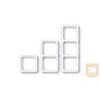 AMP Díszkeret - hármas soroló, 80x80 DIN előlapokhoz, bézs vagy fehér (964361-3)