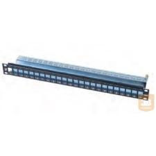 AMP Moduláris 24 portos patchpanel, SL betéthez, 1U, fekete (336526-1) egyéb hálózati eszköz