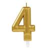 Amscan Europe GmbH AMSCAN számgyertya arany, 8cm, 4