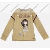 Anekke gyermek pulóver, világosbarna, 5-6 év (RH6140)