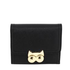 Anna Grace AG Női pénztárca baglyos csattal-fekete
