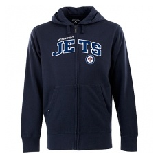 Antigua Winnipeg Jets fĂŠrfi kapucnis pulóver blue Zip - XL