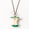 Antikolt almacsutka medálos nyaklánc zöld jwr-1479