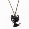 Antikolt nyaklánc fekete macska medállal jwr-1092
