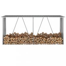 Antracit horganyzott acél kerti tűzifatároló 330 x 84 x 152 cm hűtés, fűtés szerelvény