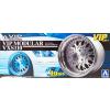 AOSHIMA 1/24 Vip Modular VXS110 felni és gumi szett modell kiegészítő