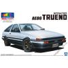 AOSHIMA - Toyota AE86 Trueno 1983 White-Black