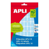 APLI 128 etikett/csomag 25x40 mm kerekített sarkú kék színű kézzel írható etikett