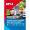 APLI 38x21,2 mm, eltávolítható univerzális Etikett (100 lap)