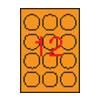 APLI 60mm kör színes neon narancs 240db/cs