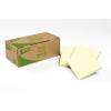 APLI 75x75 mm 100 lapos újrahasznosított sárga öntapadó jegyzettömb