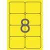 APLI 99,1x67,7 mm kerekített sarkú neon sárga Etikett (20 lap)