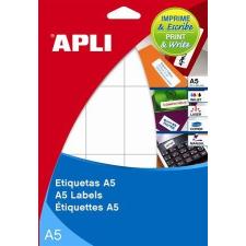 APLI Etikett, 105x148 mm, A5 hordozón, APLI, 30 etikett/csomag etikett