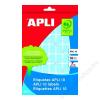 APLI Etikett, 10 mm kör, kézzel írható, színes, APLI, kék, 1008 etikett/csomag (LCA2731)