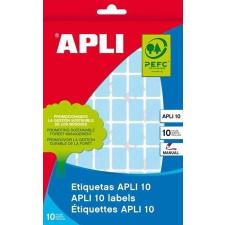 APLI Etikett, 12x18 mm, kézzel írható, színes, kerekített sarkú, APLI, zöld, 448 etikett/csomag etikett
