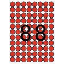APLI Etikett, 16 mm kör, színes, A5 hordozón, APLI, piros, 704 etikett/csomag etikett
