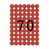 APLI Etikett, 19 mm kör, színes, A5 hordozón, APLI, pi